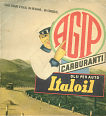 Agip advert on 1939 RACI map of Italy