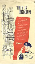 Right Esso advert from 1950 Dover-Ostend strip maps