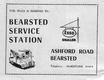 1960s Esso Dealer advert from an SP Street Map of Maidstone, Kent