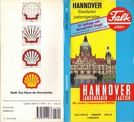 1991 Falk-plan map of Hannover, with Shell advert on rear