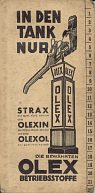 Olex advert from late 20s/early 30s Sanwald map
