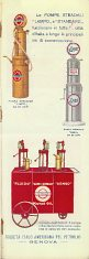 Lampo (Standard Oil) advert from ca1930 TCI map of Italy