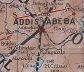 Extract from late 1930s Agip map of Ethiopia