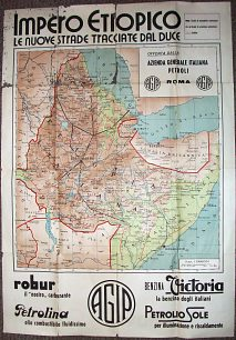 late 1930s Agip map of Ethiopia