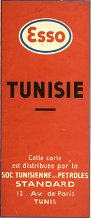 1948 Esso Map of Tunisia