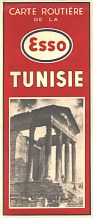 1951 Esso Map of Tunisia