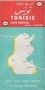 1971 (dated) Esso map of Tunisia
