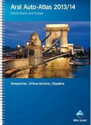 2013-4 Aral spiral bound atlas of Germany and Europe