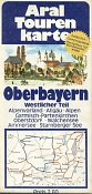 ca1973 Aral Touring map of Oberbayern W