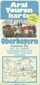 1975-6 Aral Touring Map of Overbayern