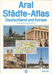 1986 Aral City Atlas of Germany and Europe