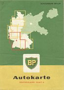 1957 BP section 4 map of West Germany