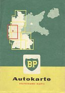 1958 BP section 3 map of West Germany