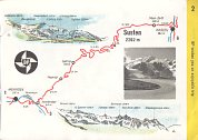 Maps from late 1950s BP booklet of Swiss Alpine Roads