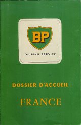 Late 1950s BP Touring Service folder of France