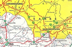 c1960 BP map of the Saarland