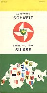 1960 BP map of Switzerland (French/German cover)
