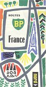 1960 BP Map of France