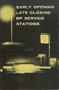 1960 BP map booklet of late opening stations in Britain