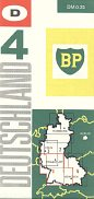 1963 BP section 4 map of West Germany