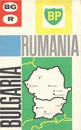 1964 BP Touring service map of Bulgaria and Romania