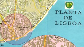 Map extract from 1970 BP guide to Lisbon