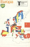 1977 BP/Trafalgar Tours map of Europe