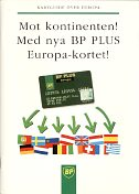 1992 BP location map booklet (Kartguide over Europa)