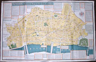 Duckhams Historical map of the City of London