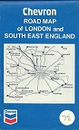 1969 Chevron map of London and SE England
