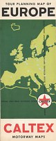 1963 Caltex Map of Europe