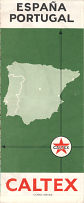 1965 Caltex map of Spain/Portugal