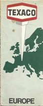 1968 Texaco map of Europe