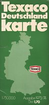 1973 Texaco map of Germany