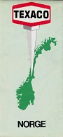 1973 Texaco map of Norway