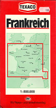 1983 German Texaco map of France