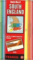 1986 Texaco Handy Map of South England