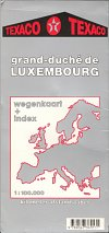 1990 Texaco map of Luxembourg