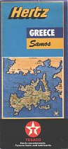 1990s Texaco/Hertz map of Samos (Greece)