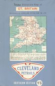1963 Cleveland map of Britain - Southern Section