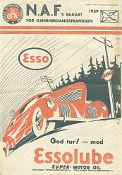 1939 Esso map of Norway