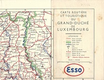 ca1949 Esso map of Luxembourg