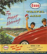 ca1955 Esso brochure advertising its Travel Aids