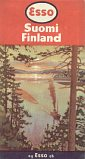 1957 Esso map of Finland