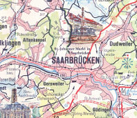 Extract from 1959 Esso map of the Saarland