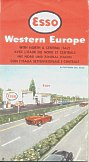1960 Esso map of Europe and Northern Italy