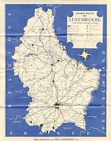 ca1960 Esso map of Luxembourg