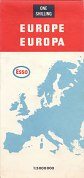 1968 Esso Map of Europe