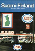 1983 Esso map of Finland