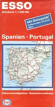 1998 Esso map of Spain/Portugal